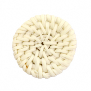 Rotan hanger rond 30mm Natural beige