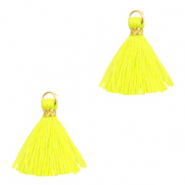 Kwastjes 1.5cm Gold-neon yellow
