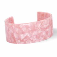 Trendy armbanden resin Rose pink