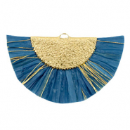 Kwastjes hanger Gold-Blue heaven