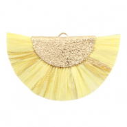 Kwastjes hanger Gold-Sunshine yellow