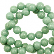 8 mm natuursteen kralen rond Jade Meadow green