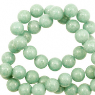 6 mm natuursteen kralen rond Jade Meadow green
