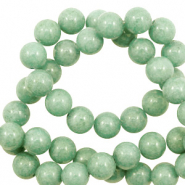 4 mm natuursteen kralen rond Jade Meadow green