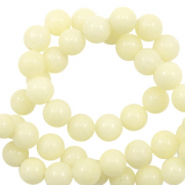 6 mm natuursteen kralen rond Jade Soft yellow