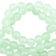 4 mm natuursteen kralen rond Jade Meadow green opal