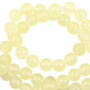 6 mm natuursteen kralen rond Jade Transparent yellow opal