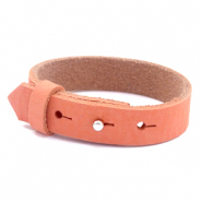 Cuoio armbanden nubuck leer 15 mm voor 20 mm cabochon Living coral red
