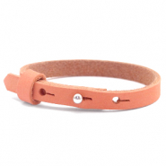Cuoio armbanden nubuck leer 8 mm voor 12 mm cabochon Living coral red