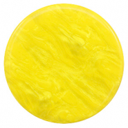 35 mm platte cabochons Polaris Elements Lively Empire yellow