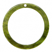Resin hangers rond 35mm Olive green