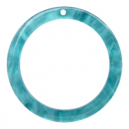 Resin hangers rond 35mm Blue atoll