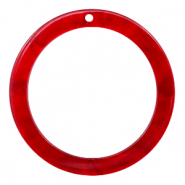 Resin hangers rond 35mm Cherry red