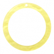 Resin hangers rond 35mm Sunshine yellow