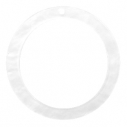 Resin hangers rond 35mm Bright white