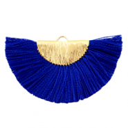 Kwastjes hanger Gold-Princess blue