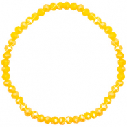 Top facet armbandjes 4x3mm Freesia yellow opal-pearl shine coating