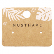 Sieraden kaartjes 'musthave' Leaves Brown