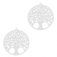 Hangers bohemian tree of life 15mm Zilver (nikkelvrij)