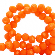 Top Facet kralen 8x6 mm disc Emberglow orange-pearl shine coating