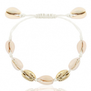Trendy armbanden Kauri Off white-gold