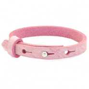 Cuoio armbanden leer kids 8mm voor 12mm cabochon Pressed rose