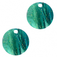 Resin hangers rond 12mm Ocean green