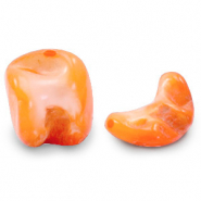 Schelp kralen nugget Persimmon orange