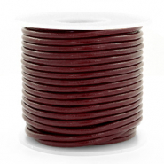 DQ Leer rond 3 mm Mahogany brown
