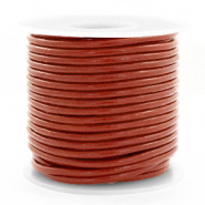 DQ Leer rond 3 mm Red ochre brown