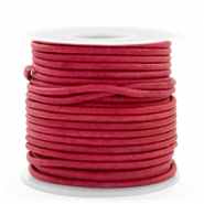 DQ Leer rond 3 mm Vintage magenta purple