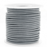 DQ Leer rond 3 mm Gallant grey