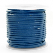 DQ Leer rond 3 mm Imperial blue