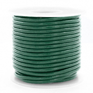 DQ Leer rond 3 mm Hunter green metallic
