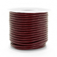 DQ Leer rond 2 mm Mahogany brown