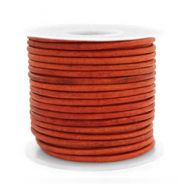 Voordeelrollen DQ Leer rond 2 mm Vintage fired orange