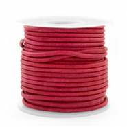 DQ Leer rond 2 mm Vintage magenta purple