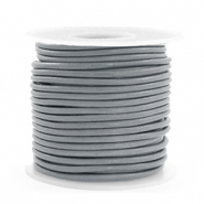 DQ Leer rond 2 mm Gallant grey