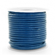 DQ Leer rond 2 mm Imperial blue