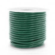 DQ Leer rond 2 mm Hunter green metallic