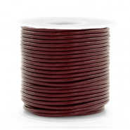 DQ Leer rond 1 mm Mahogany brown
