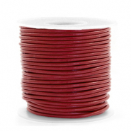 DQ Leer rond 1 mm Carmine red