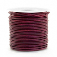 DQ Leer rond 1 mm Vintage tyrian purple