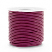 DQ Leer rond 1 mm Aubergine purple