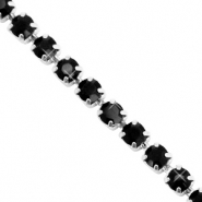 Strass chain Black-silver