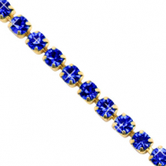 Strass chain Cobalt blue-gold