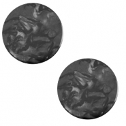 20 mm platte cabochon Polaris Elements Lively Carbone black