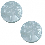 20 mm platte cabochon Polaris Elements Lively Acquario blue