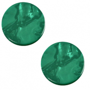 20 mm platte cabochon Polaris Elements Lively Agata green