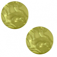 12 mm platte cabochon Polaris Elements Lively Origano green